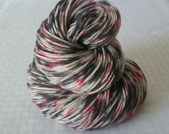 "Hand dyed Yarn / Handdyed Yarn, Sock Yarn, Speckled Yarn – ""Pollock"" –  100% Superwash Merino - DK Weight – 100g"