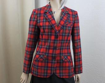 Vintage Ladies Pendleton Jacket Stewart Prince Charles Edward Scottish Size Small