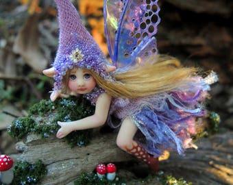 Pretty Purple Woodland Fairy Faerie || Celia Anne Harris || OOAK