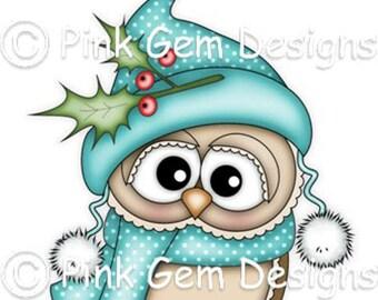 Digi Stamp 'Holly Ollie' -  Christmas Owl