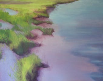 Viewpoint, Colorful Marsh Oil Painting