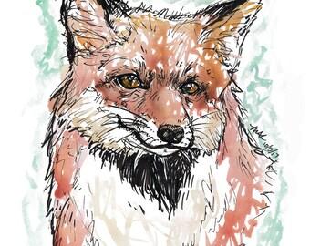 Inktober 2017 Print: Fox