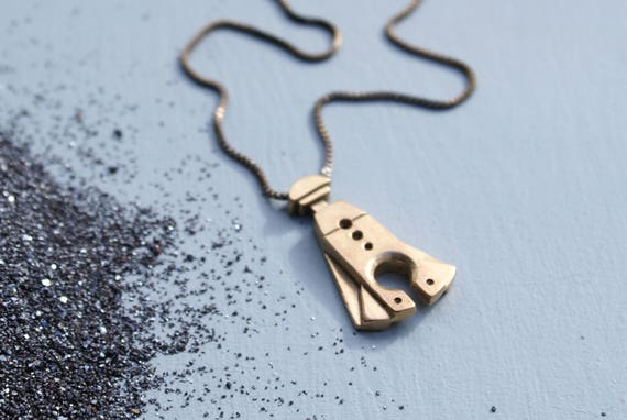 Ancient Spaceship key necklace
