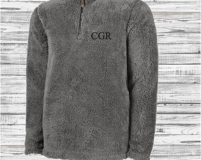 Monogrammed Men's Newport Fleece Quarter Zip Pullover, Charles River Quarter Zip Pullover, Monogram Pullover, Gifts for Him, Groomsman Gifts