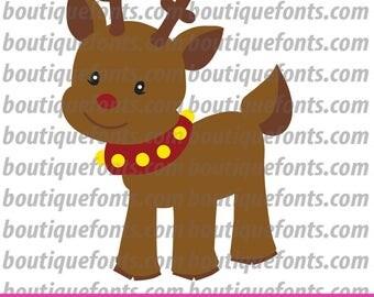 Rudolph Reindeer SVG Cut File - Instant Download