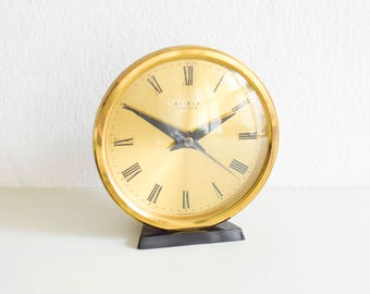 Brass desk clock | Etsy