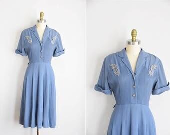 40s Victory Woman dress/ vintage 1940s rayon dress dress/ Fifth Avenue frock dress