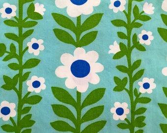 Retro Fabric, Fun Daisy Design, 1960s