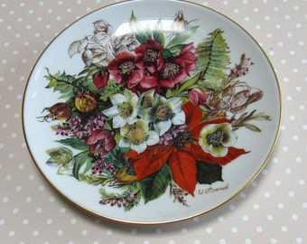 Frostige Schonheit - Frosty Beauty Collectable Plate 1988 Hutschenreuther Flowers Floral 4537a - David