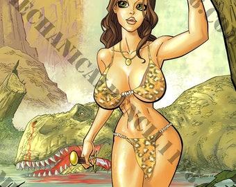 Print 05- Cavewoman