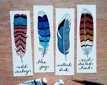 Four Feather Bookmarks