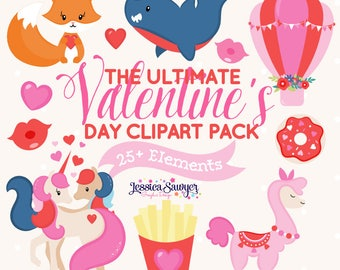 INSTANT DOWNLOAD, valentines day clipart for planner stickers, crafts, and projects