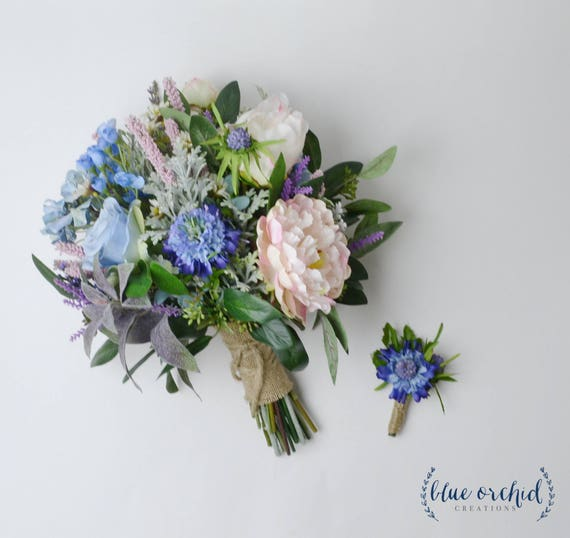 Wild Flower Wedding Bouquet: Wildflower Bouquet Wedding Bouquet Bridal Bouquet Blue