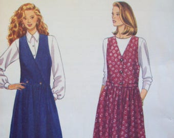 1990s Vest and Wide Legged Pants Butterick Fast & Easy Pattern 3008 Uncut Sizes 12-16