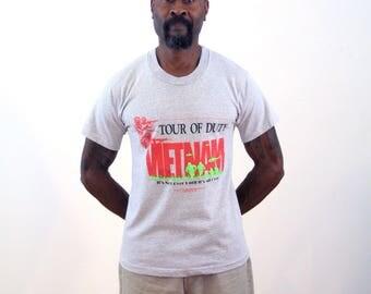 80s Vietnam T-shirt M, Tour of Duty T-shirt, Vietnam War T-shirt, Vietnam Veterans Memorial Tee, Tour Of Duty Vietnam Shirt, Medium