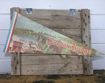Vintage London Bridge Arizona Pennant Banner, Lake Havasu, Lake Havasu City, Arizona Pennant, Wall Pennant, Vintage Pennant, Pennant Flag