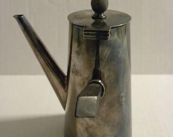 Asprey & Co London Petite Chocolate Pot Art Deco Silverplate - Tea Pot, Coffee Pot, Hot Chocolate Pot - 6550