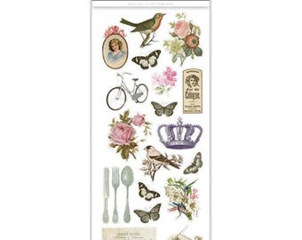 VINTAGE STICKERS, Victorian Stickers, British Victorian Stickers, Multicraft Stickers, Bird stickers, Rose Stickers, Butterfly Stickers