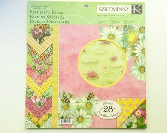 FLORAL PAPER PAD, Susan Winget Spring Blossom, Floral Card Stock Pad, Naturel Theme Card Stock, K and Company, Flower Print Paper