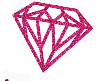 Glitter diamond iron on patch 12 glittering colors 432