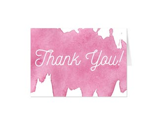 Watercolor Thank You's - Set of 12