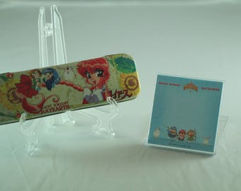 Rare New Magic Knight Rayearth Clamp Lot Set  - Case and paper block Stationery