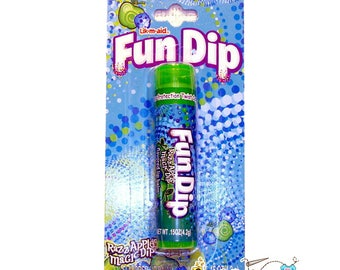 Fun Dip Razzle Apple Magic Dip Flavored Lip Balm, Apple Fun Dip Candy Chapstick, Lotta Luv Beauty, Easter Basket Filler, Girl Party Favor