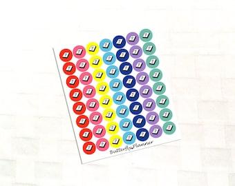 Bible Multicolor Icon Stickers, Scripture Reading
