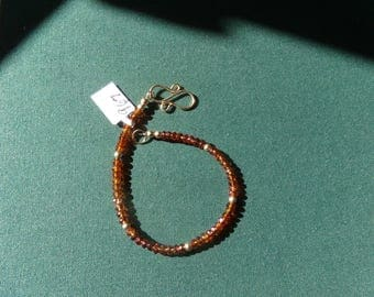 Spessartite garnet bracelet 14k gold filled item 967