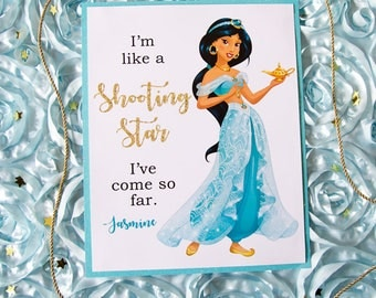 Princess Jasmine Inspired Sign - Instant Download