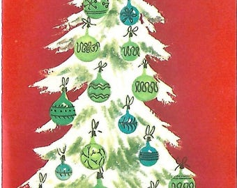 Vintage Christmas Tree Card