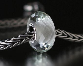 Green amethyst faceted semi-precious gemstone 12-49