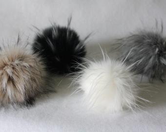 Pompoms, fur pompoms, fox pompoms, fur pom pom, hat supply, hat pompoms, fluffy pom pom, fluffy pompoms, faux fur pompoms, pompom hat