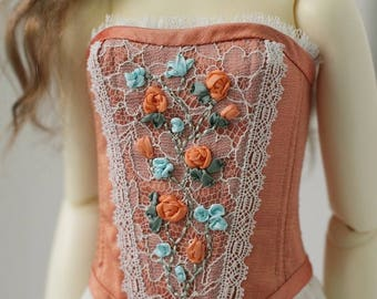 Dupioni silk BJD corset for SD13 girl