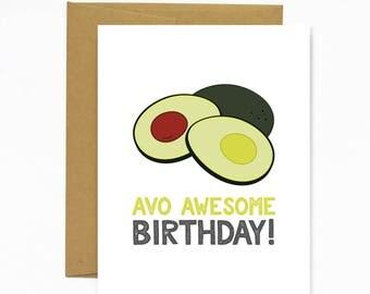 Avo Awesome Birthday - Greeting Card