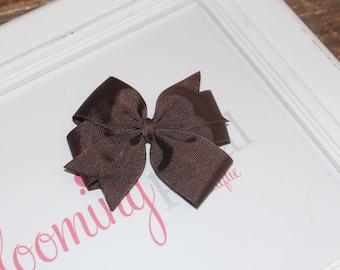 """Brown Large 4"""" Pinwheel Bow"""