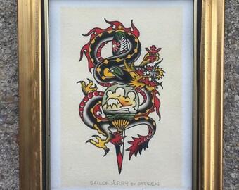 Sailor Jerry Dragon Re-Paint