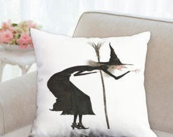 Halloween Witch Designer Pillow (Comes in two colors)