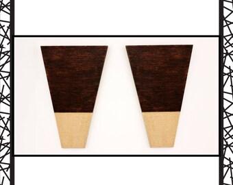 Akeemi Dark Walnut Minimalist Wood Earrings