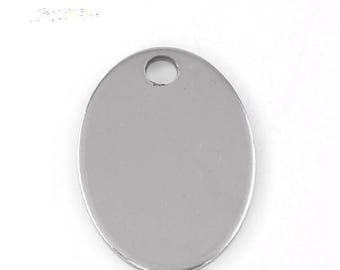 Pendant 17 x 24 mm oval steel engraving print stamping punch