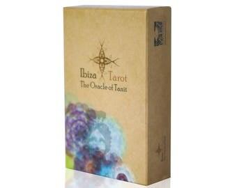 Tarot Deck - Fortune Telling - Divination tools - Tarot Gift - Tarot Box - Illustrated Cards - The oracle of Tanit - Ibiza Tarot