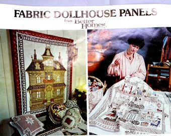 Vintage 1978 Better Homes and Gardens Victorian Fabric Dollhouse Panels Kit