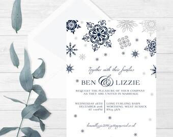 Winter wedding invitations with a rustic winter invite theme perfect printable invitations for a invitation kit
