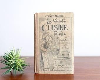 """French cooker book : """"La véritable cuisine de famille"""" de Tante Marie, A. Taride Editions, 1930s  / kitchen deco vintage cooking baking"""