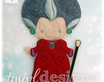 Stepmother Gown Felt Paper Doll Outfit Digital Design File - 5x7