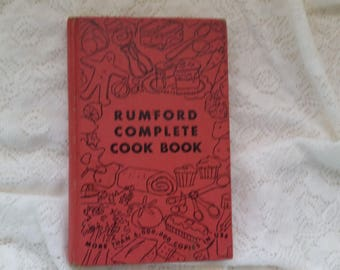 Rumford Complete Cook Book 1950 vintage collectible