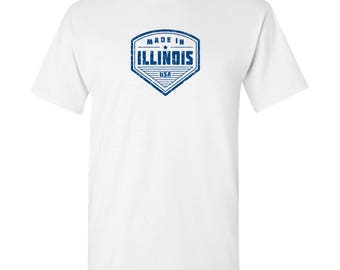 Made in Illinois T Shirt - White