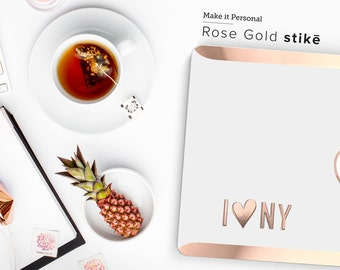Stikē - Embossed Rose Gold Monogram Decal - Add a Touch of Personality and glamour for your Macbook -  Platinum Edition - Stike