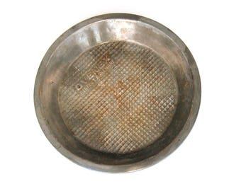 Ovenex Pie Pan, Vintage Pie Tin, Antique Pie Pan, Waffle Design Baking Pan