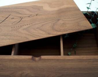 Compartment Box, Keepsake Box, Memorial Box, Memory Box, Wooden Box, Anniversary Gift, Dad Memory Box, Custom Quote Box, Baby Gift, Wood Box